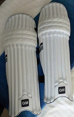 Pair of large Gunn and Moore 808 adult LH cricket pads