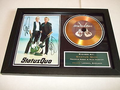 Status Quo  Signed Framed Gold Cd  Disc   4433322