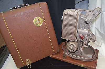 Vintage Working Keystone Continental 16mm Movie Projector A-82 w/ Case [M4241]