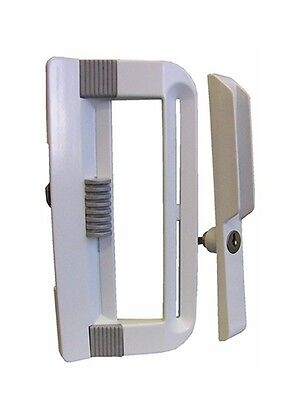 Ideal Security Inc. SK800KBL Patio Door Handle Set Keyed, White