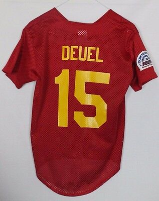 Deuel #15 Murphysboro Baseball Jersey Shirt Youths Medium Augusta Sportswear