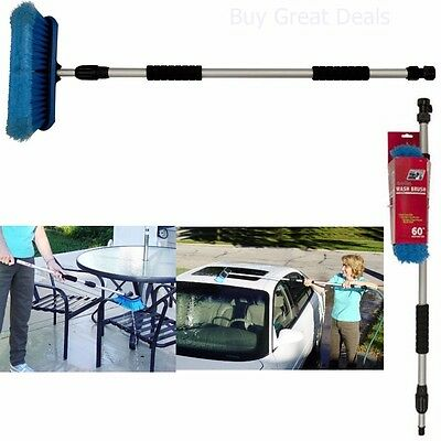 Car Snow Brush Truck Telescoping Handle Cleaning Flow-Thru Extendable Washing