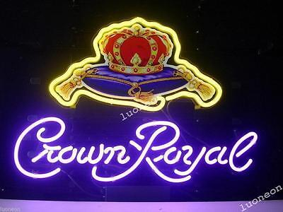 Crown Royal Whiskey Distillery Beer Bar Real Neon Sign Light [FAST FREE SHIP]