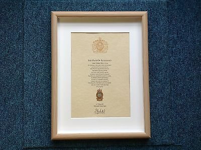 Royal Army Ordinance Corps RAOC Oath Of Allegiance With Cap Badge