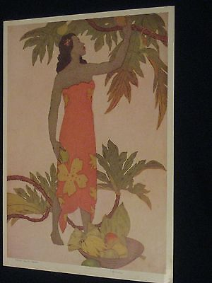 Royal Hawaiian Hotel Vintage Menu John Kelly Breadfruit Hawaii 8/16/53 Guar Old