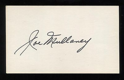 Joe Mullaney Signed 3x5 Index Card Autographed Signature Basketball