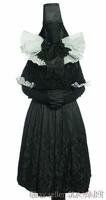 GERMAN FOLK COSTUME rare complete mourning outfit Lindhorst Germany ethnic dress