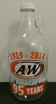 A&w Root Beer 1919-2014 95 Years Bottle With Plastic Cap A-1168