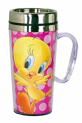 Looney Tunes Tweety Insulated Travel Mug, Pink