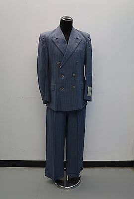 Unworn 1940's Suit Vtg Pinstripe 40s Suit Vtg Wool Suit 30's Suit New Old Stock