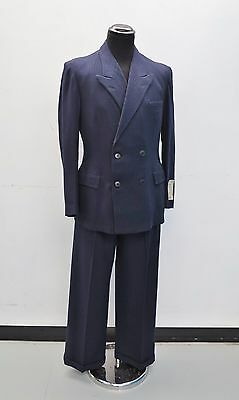 Unworn 1940's Suit Vtg Pinstripe 1940's Wool Suit 1930's Suit New Old Stock
