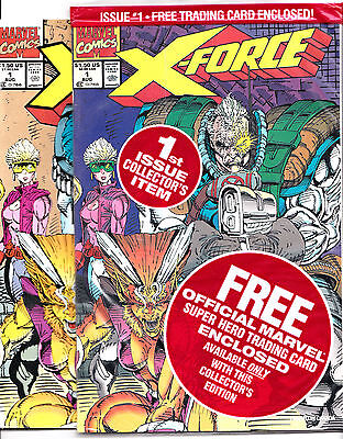 X-Force #1 FACTORY BAGGED & #1-2ND PRINT VF NEVER READ