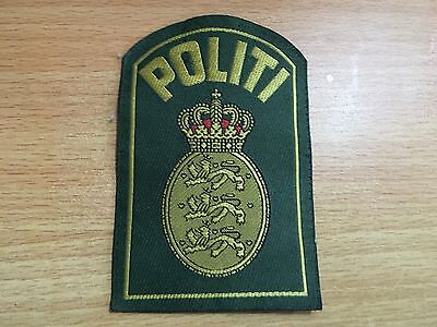 Politi Denmark Danish Patch Police Army Military Badge Shoulder Patches Insignia