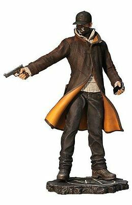 WATCH DOGS Aiden Pearce PVC Statue, 25cm Tall In Black Box