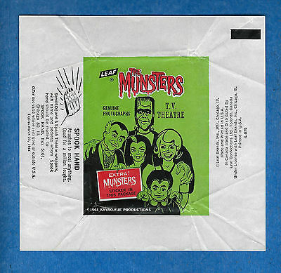 1964 Leaf Wrapper  THE MUNSTERS  (excellent condition)