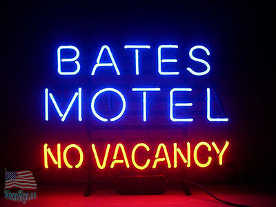 Bates Motel No Vacancy Pub Beer Bar Neon Sign 17''x14'' From USA