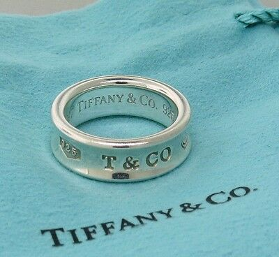 Tiffany & Co 1837 Sterling Silver 925 Band Ring Size 7 T. & Co. Fine Jewelry