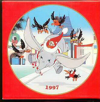 Dumbo with the crows dated 1997 Disney  Porcelain Plate Mint in original box