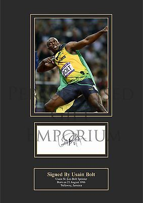 Usain Bolt Printed Autograph (Buy 3 Get Free Postage)