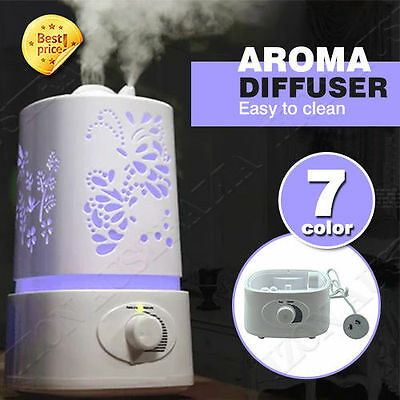 LED Essential Oil Aroma Diffuser Ultrasonic Humidifier Purifier Color change 1.5