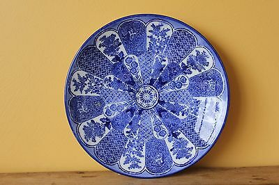Antique Vintage Japanese Blue and white plate.