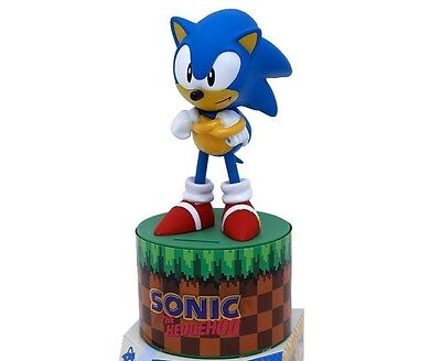 Licensed Sonic The Hodgehog Figure Coin Bank Money Box Collectors Edition
