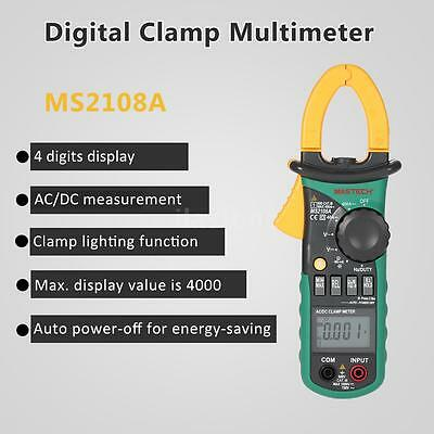 MASTECH MS2108A Digital Clamp Meter Multimeter AC DC Volt Amp Tester US O3D1