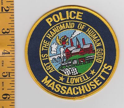Lowell Massachusetts Police Department JACKET PATCH VINTAGE