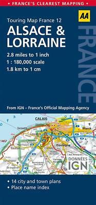 Alsace Lorraine AA France Touring Map 12