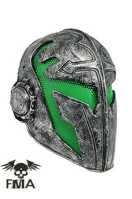 Outdoor Green Paintball Airsoft Full Face Protection Templar Mask