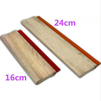 2 pcs Silk Screen Printing Squeegee 16cm/24cm (6.3/9.4inch) Ink Scaper Tools