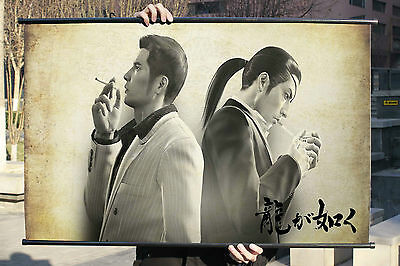 Yakuza Majima Goro So Cool Poster Wall Mural Scroll Painting 90*50cm A
