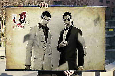 Yakuza Majima Goro So Cool Poster Wall Mural Scroll Painting 90*50cm B