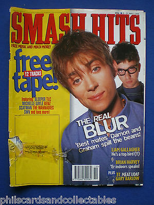 Smash Hits - 8th May 1996 - Blur, Liam Gallagher,Gary Barlow, Meat Loaf, 3T