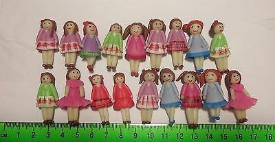 One Hand Made Polymer Clay Girl  Dolls House Miniature