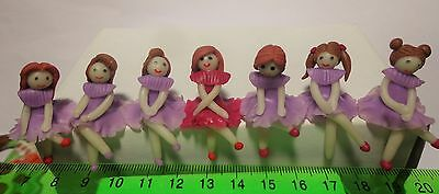 One Hand Made Polymer Clay Girl  Dolls House Miniature (Sabaijai)