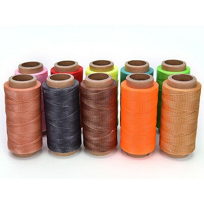 260M x1mm Thick (210D) Leather Sewing Waxed Coarse Thread Spool Polyester Fine T