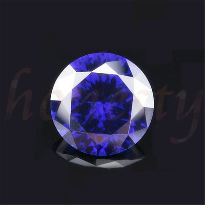 Natural Sapphire Stone Round Shaped Lustrous Loose Gemstone Artificial Zircon