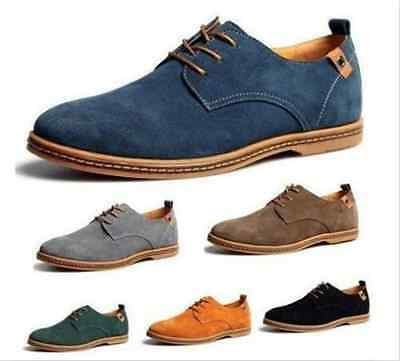Men's Suede Leather Shoes Classic Oxfords Dress Formal Moccasins Casual Flats