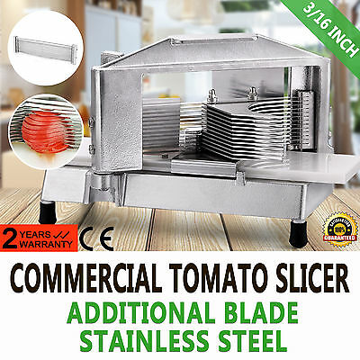 "Commercial Tomato Slicer Cutter 3/16"" Bonus Blade Vegetable Cutting Machine"