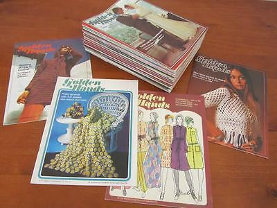 Bulk Lot 57 GOLDEN HANDS Books Exc Con Vintage Craft Retro Sewing Knit Crochet