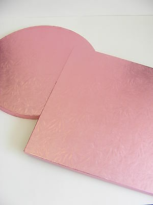 """NEW!!  COLOURED 12"""" cake drum / board PALE PINK - choose ROUND or SQUARE"""