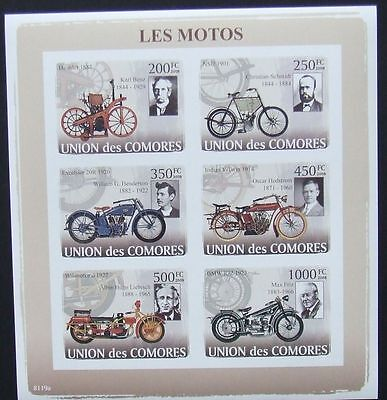 Comoros 2008 - Motorcycles, 1 M/Sh, not perforated, MNH, E 5139