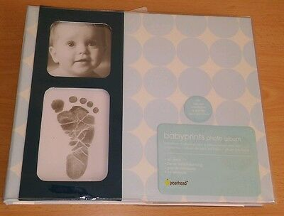 Pearhead Baby Child Photo Album Footprint Boy Girl Toddler Infant Memory Book