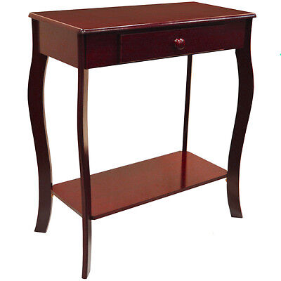 Traditional Wooden Console / Hallway Table with Storage Drawer - Cherry CH6098