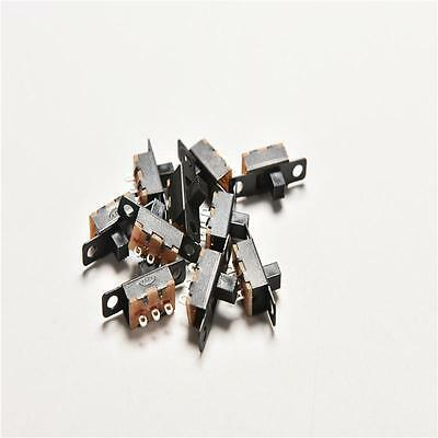 20x 2 Position SPDT 1P2T 3 Pin PCB Panel Mini Vertical Slide Switch Top Top