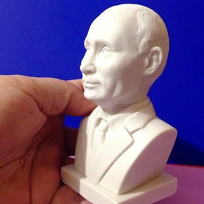 President Putin of Russia a bust of marble chips Souvenirs from Russia