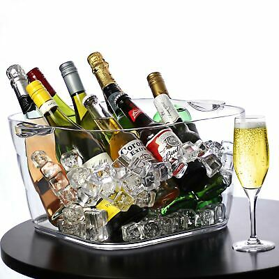 Glacier Giant Acrylic Square Party Tub - Drinks Tub, Wine Bucket, Wine Cooler
