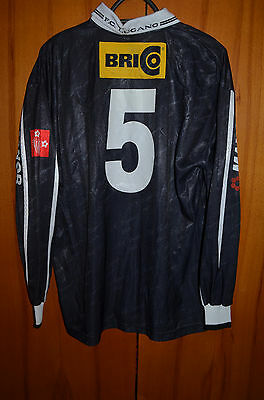 Lugano Switzerland 1990's Match Worn Issue Football Shirt Jersey Errea #5