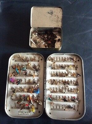 Old Farlows Fly Fishing Tin And Flies.